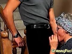 hawt vintage granny blows wang