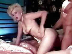 retro golden-haired shocking fuck skills