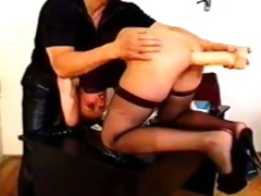 anal euro honey takes a large dildo