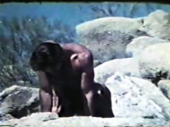 vintage clip of boys fucking by the water - blue