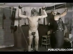 extreme vintage gay domination and cbt