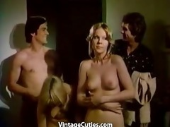 swingers convince a girl to have a fun group sex