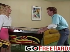 he plays pinball then copulates her