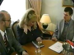 vintage - big beautiful woman blonde three-some