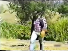 hawt smoking cowboy in wild west (vintage)
