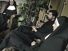 "nuns and a priest: threesome scene from ""il"