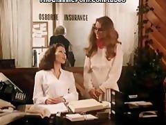 office fuck movie scene with vintage pornstars