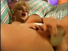 blonde beauty talking filthy and playing with it