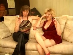 classic sexy aged cougars foursome