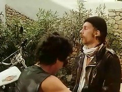 vintage biker sex threesome