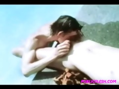 vintage poolside twink homo fuckfest