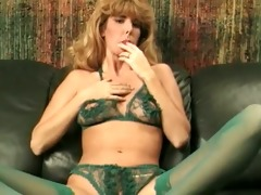 green classic green crotchless pants
