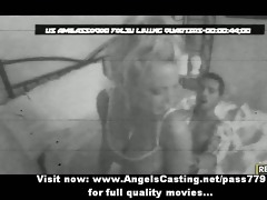 bewitching hot blonde girl with big billibongs