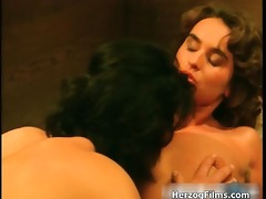 pretty brunette is engulfing a big white part6