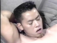 (classic) asian with a white hairy guy