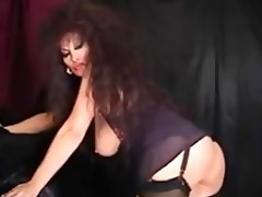classic busty cougar smokin and toying mature