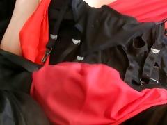 stocking wank suspender &; slip cum