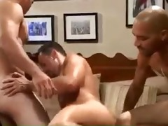 sexy hung interracial threesome raw fucking and dp