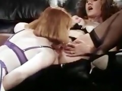 retro - office lesbians twat & ass licking,