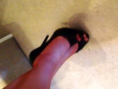 louise in vintage nylons and heels