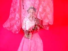 an erotic tease 001-a dark brown bride undresses
