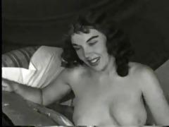vintage lady disrobe on bed (camaster)