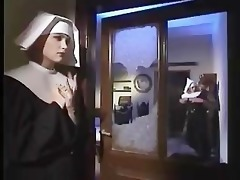 nun copulates the bedpost in the ass