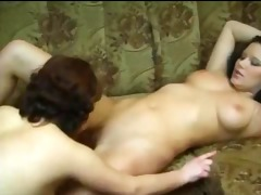 excellent lesbians masturbating on ottoman