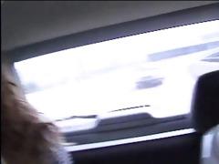 in a big car