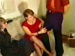 vintage girls have fun with stripper