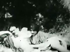 rural vintage three-some 1925 france