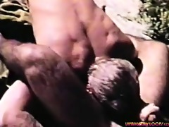 outdoor vintage action. sexy hairy fellows