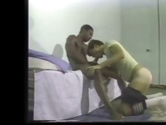 hot darksome stud and white masseuse in otc