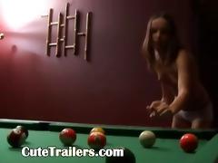 hot billiards sex of slim pair