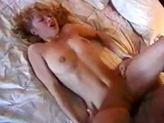 hot golden-haired swallows cum