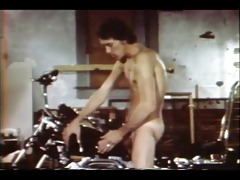 vintage hunk jerks off on his bike - gentlemens