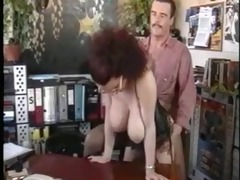 large tited secretary and boss